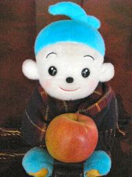 リンゴを持った福ちゃん