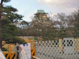 京橋口から見た天守閣
