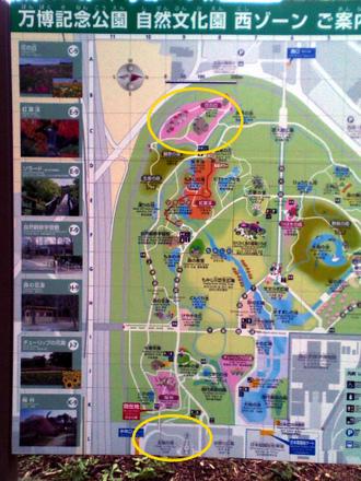 自然文化園地図