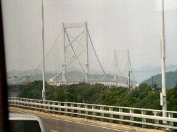 車中から見える大鳴門橋