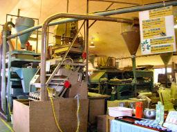 お茶工場内部