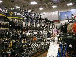 自転車関係のコーナ