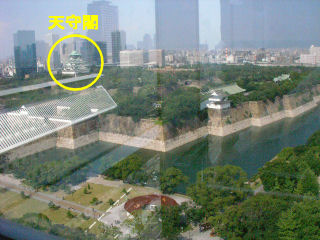 窓から見た大阪城公園