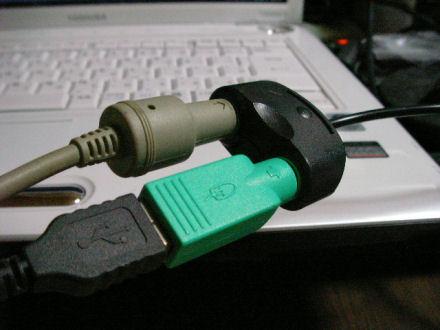 キーボードとマウスを接続したところ