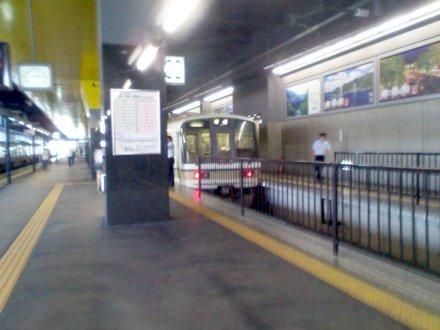 丹波口駅へ向かう電車