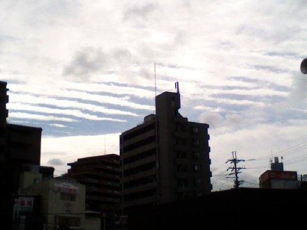 細長い雲の列 その1