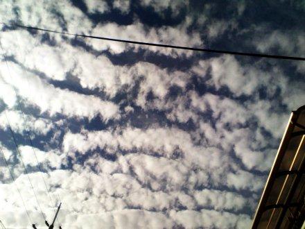 細長い雲の列 その2