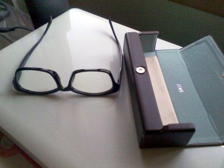 買ったメガネとケース