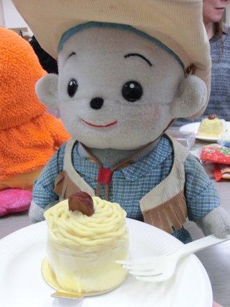福ちゃんと、Get したケーキ