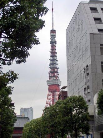 夕刻の東京タワー
