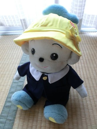 園帽をかぶった福ちゃん