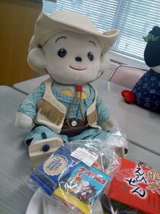 福ちゃんとお菓子の山