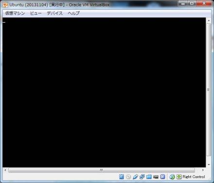 起動しても真っ黒な画面になってしまった Virtualbox 上の 13.10