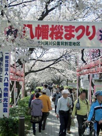 八幡桜まつりのプレート