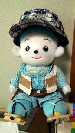 帽子をかぶった福ちゃん